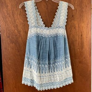 Gap Embroidered Chambray Tank